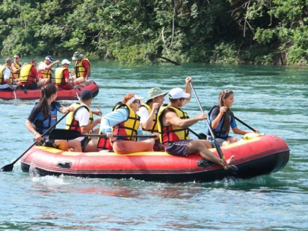 Rafting by Drina, Tara & House on the rock